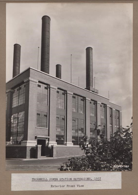 Photograph from archive: Thornhill Power Station extensions 1937